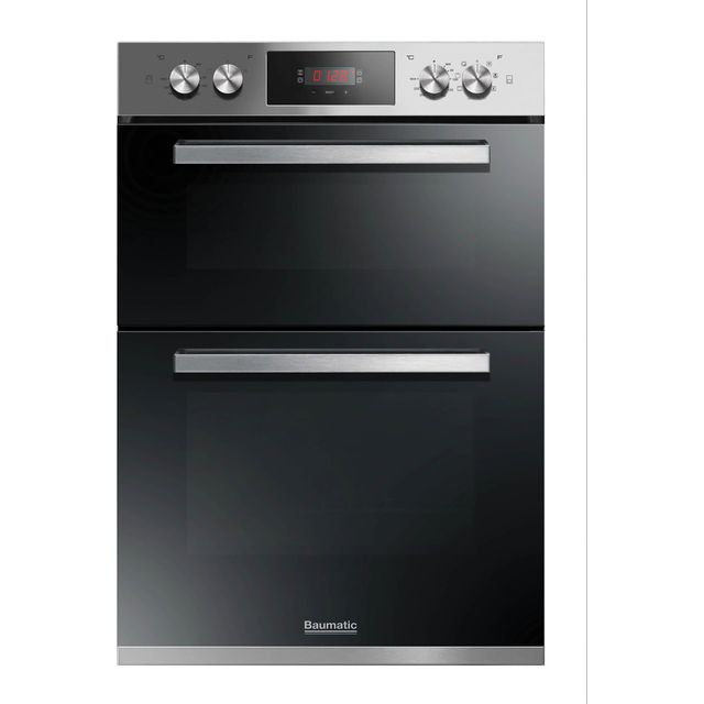 Baumatic BODM984X Built In Double Oven - Stainless Steel - A/A Rated - BODM984X_SS - 1