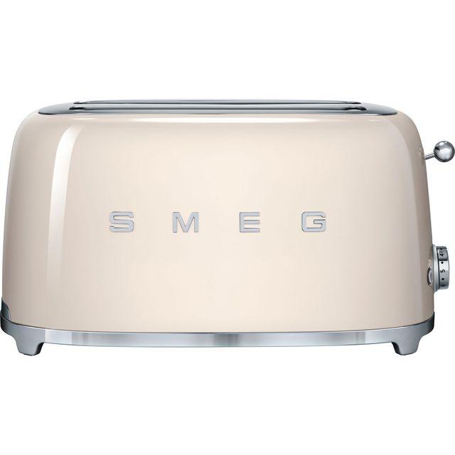 Smeg 50's Retro TSF02CRUK 4 Slice Toaster - Cream