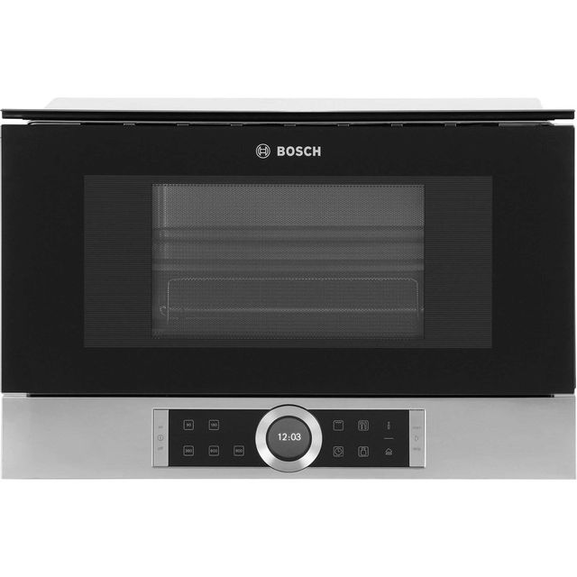 Bosch Serie 8 BEL634GS1B Built In Microwave With Grill - Brushed Steel - BEL634GS1B_BS - 1
