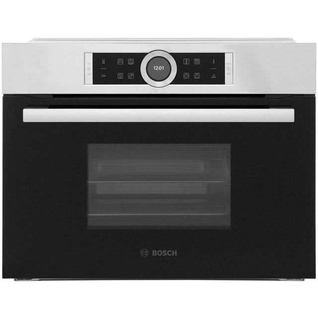 Bosch Serie 8 CDG634BS1B Built In Compact Steam Oven - Stainless Steel - CDG634BS1B_SS - 1
