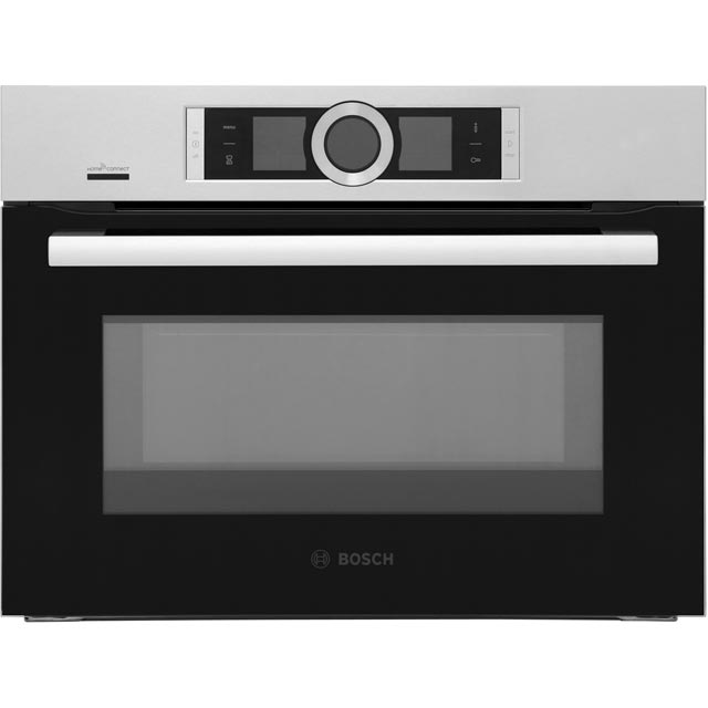Bosch Serie 8 CMG656BS6B Wifi Connected Built In Compact Electric Single Oven with Microwave Function - Brushed Steel - CMG656BS6B_BS - 1
