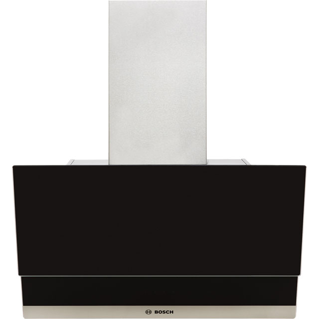 Bosch Serie 4 DWK065G60B 60 cm Chimney Cooker Hood - Black - C Rated - DWK065G60B_BK - 1