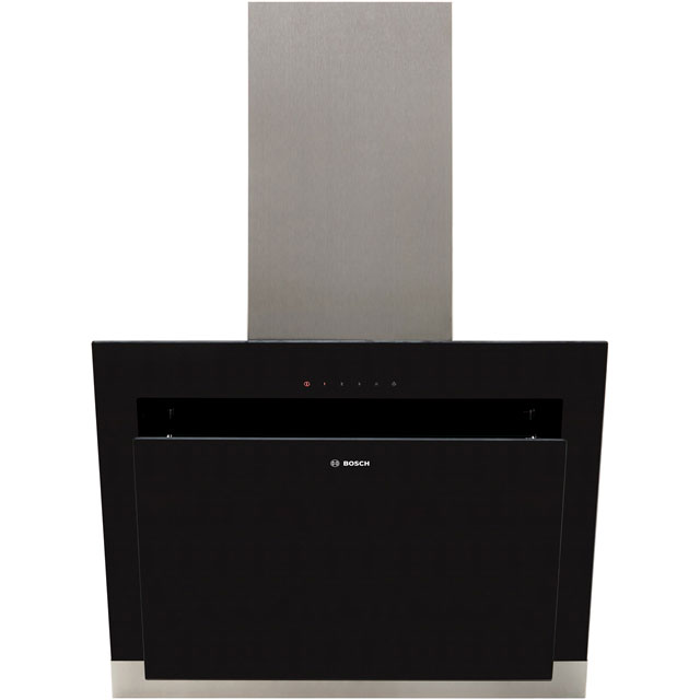 Bosch Serie 4 DWK67HM60B 59 cm Chimney Cooker Hood - Stainless Steel / Black Glass - B Rated - DWK67HM60B_SSB - 1