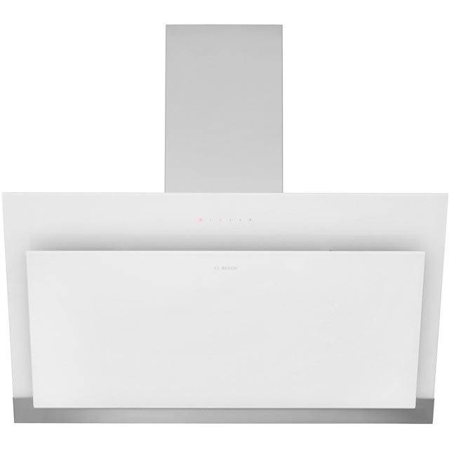 Bosch Serie 4 DWK97HM20B 89 cm Chimney Cooker Hood - Stainless Steel / White - B Rated - DWK97HM20B_SSW - 1