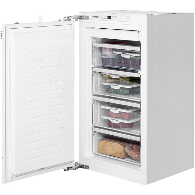 Bosch GIN31AE30G Integrated Frost Free Upright Freezer with Fixed Door Fixing Kit - A++ Rated - GIN31AE30G_WH - 1