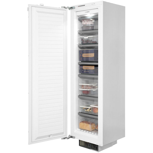 bosch serie 8 gin38a55gb integrated upright freezer with fixed door fixing kit - Small Upright Freezer