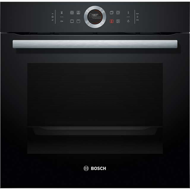 Bosch Serie 8 HBG634BB1B Built In Electric Single Oven - Black - A+ Rated - HBG634BB1B_BK - 1