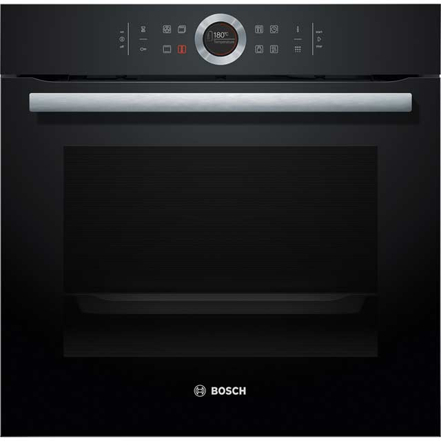 Bosch Serie 8 HBG674BB1B Built In Electric Single Oven - Black - HBG674BB1B_BK - 1