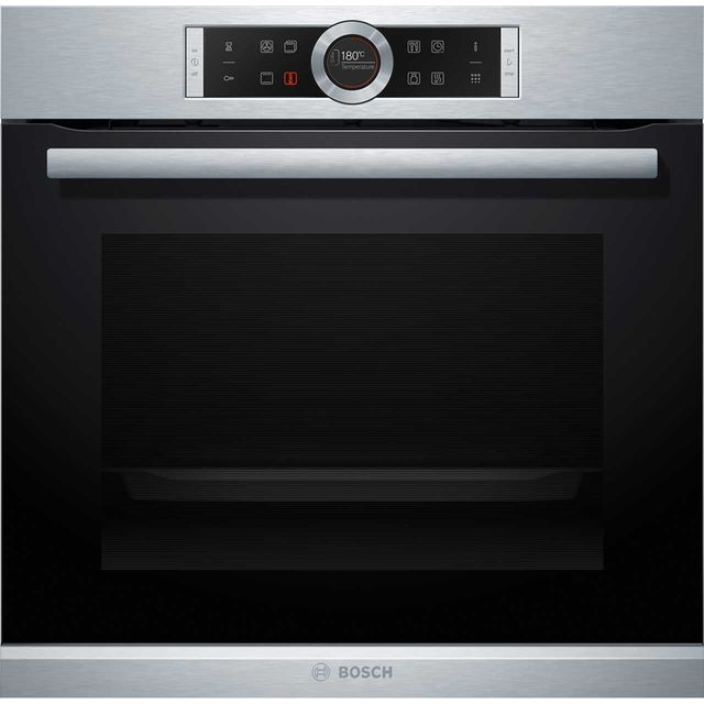 Bosch Serie 8 HBG674BS1B Built In Electric Single Oven - Brushed Steel - A+ Rated - HBG674BS1B_BS - 1