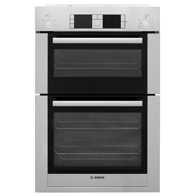 bosch serie 8 hbm56b551b integrated double oven in stainless steel ovens. Black Bedroom Furniture Sets. Home Design Ideas