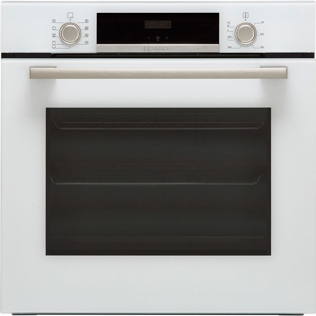 Bosch Serie 4 HBS534BW0B Built In Electric Single Oven - White - HBS534BW0B_WH - 1
