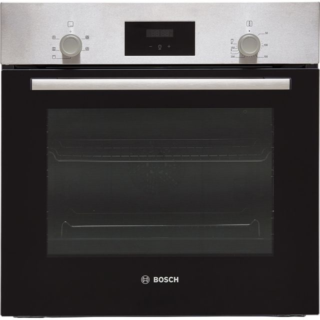 Bosch Serie 2 HHF113BR0B Built In Electric Single Oven - Stainless Steel - A Rated - HHF113BR0B_SS - 1