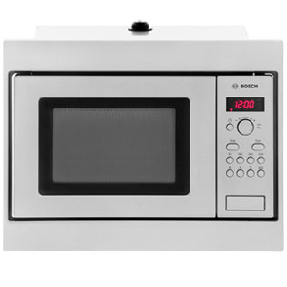 Bosch Serie 4 Narrow Width Built In Microwave - Brushed Steel