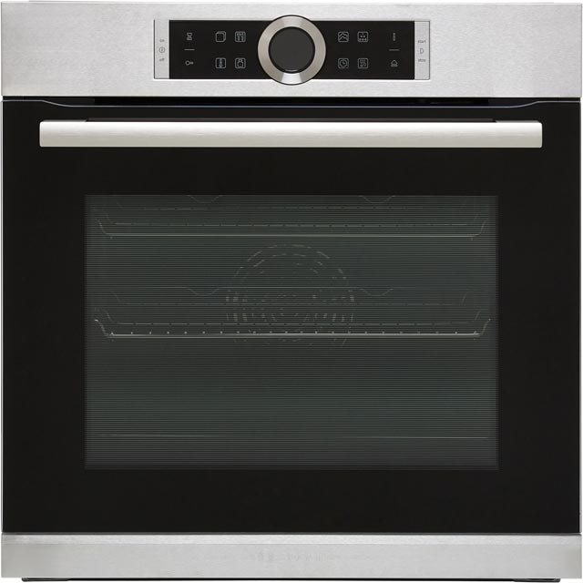 Bosch Serie 8 HRG635BS1B Built In Electric Single Oven with added Steam Function - Stainless Steel - A+ Rated - HRG635BS1B_SS - 1