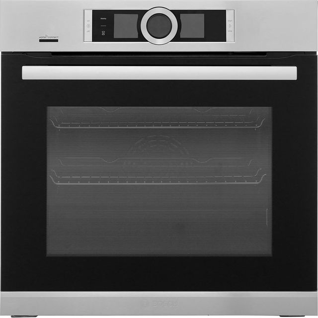Bosch Serie 8 HRG6769S6B Wifi Connected Built In Electric Single Oven with added Steam Function - Brushed Steel - A Rated