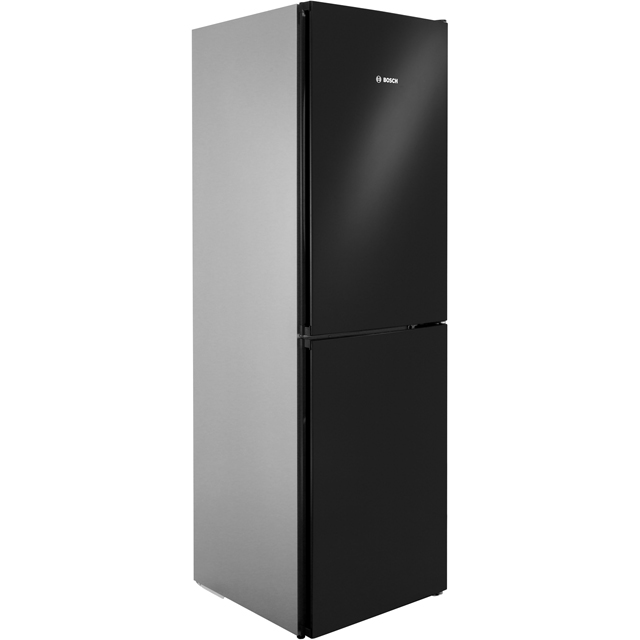 Bosch Serie 4 50/50 Frost Free Fridge Freezer - Black / Stainless Steel Look - A++ Rated