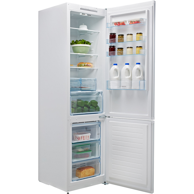 Bosch Serie 4 KGN39VW35G 70/30 Frost Free Fridge Freezer - White - KGN39VW35G_WH - 2