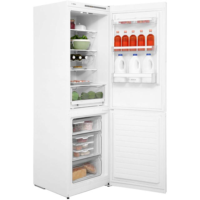 Bosch Serie 4 KGV36VL32G 60/40 Fridge Freezer - Stainless Steel Effect - KGV36VL32G_SSL - 2