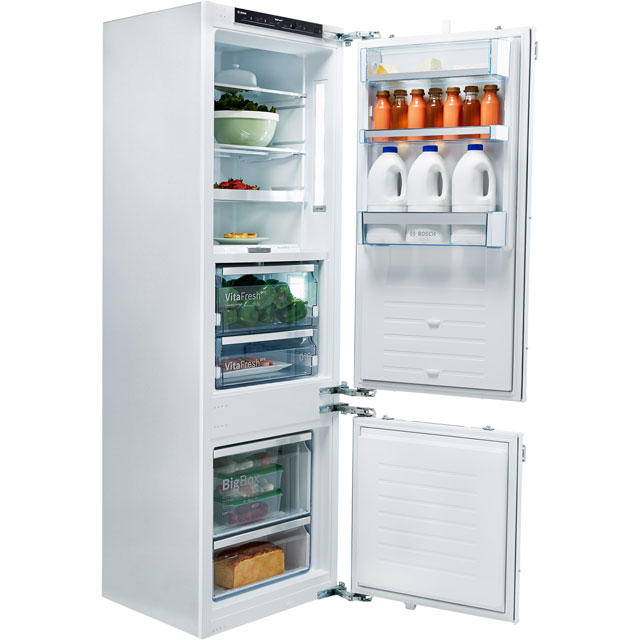 Bosch Serie 8 KIF87PF30 Integrated 70/30 Fridge Freezer with Fixed Door Fixing Kit - White - A++ Rated - KIF87PF30_WH - 1