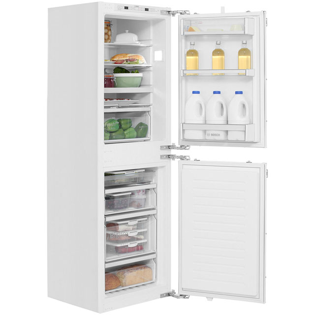 Bosch Serie 6 Integrated 50/50 Frost Free Fridge Freezer with Fixed Door Fixing Kit - White - A++ Rated