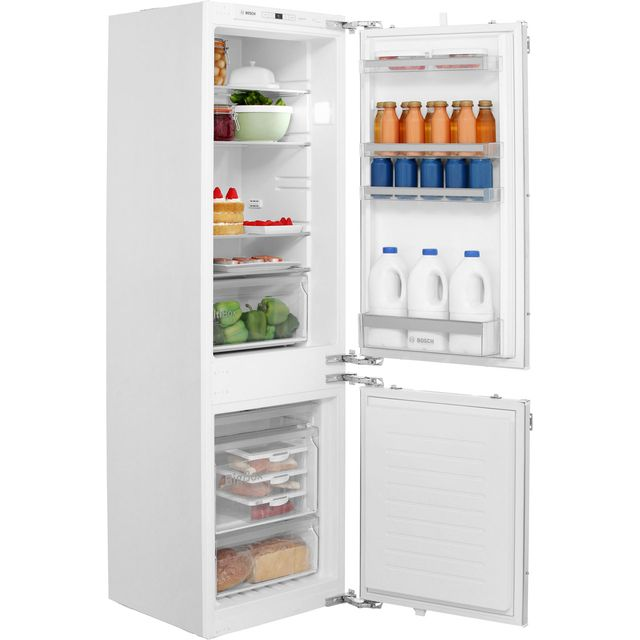 Bosch Serie 4 Integrated 60/40 Frost Free Fridge Freezer with Fixed Door Fixing Kit - White - A++ Rated