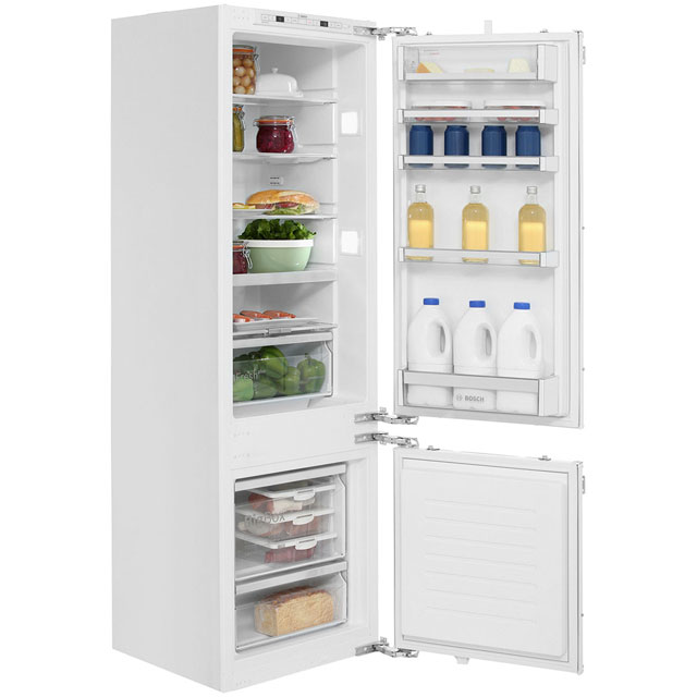 Bosch Serie 6 Integrated 70/30 Fridge Freezer with Fixed Door Fixing Kit - White - A++ Rated