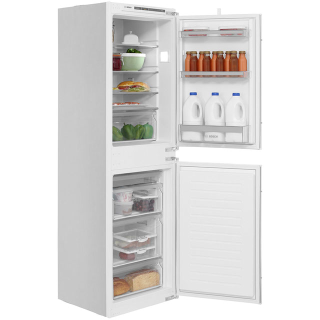 Bosch Serie 4 KIV85VS30G Integrated 50/50 Fridge Freezer with Sliding Door Fixing Kit - White - A++ Rated - KIV85VS30G_WH - 1