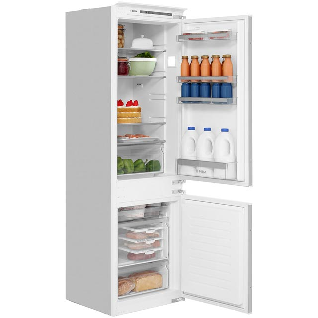 Bosch Serie 4 KIV86VS30G Integrated 60/40 Fridge Freezer with Sliding Door Fixing Kit - White - A++ Rated - KIV86VS30G_WH - 1