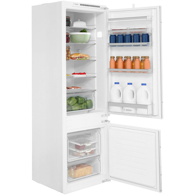 Bosch Serie 4 KIV87VS30G Integrated 70/30 Fridge Freezer with Sliding Door Fixing Kit - White - A++ Rated - KIV87VS30G_WH - 1