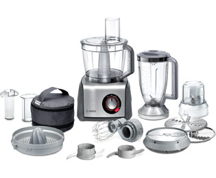 Bosch 3.9 Litre Food Processor - Stainless Steel / Grey
