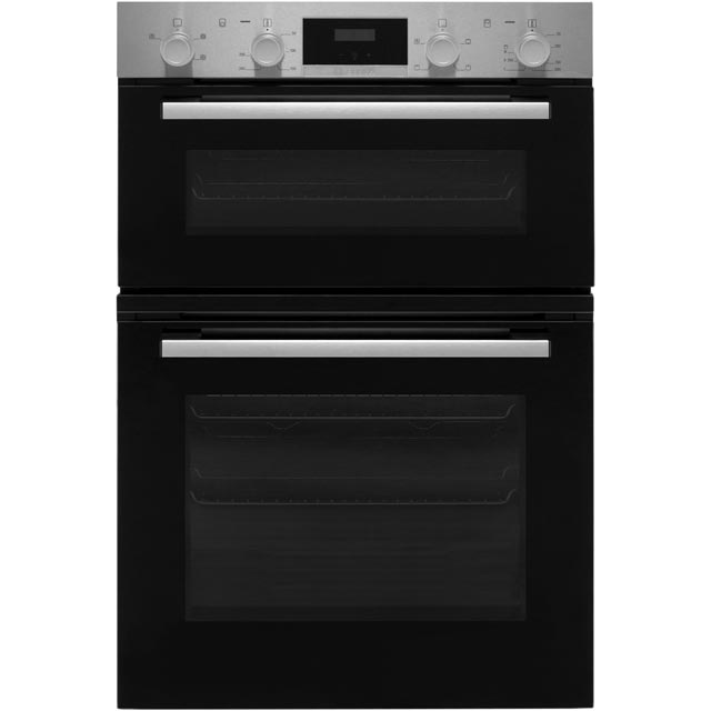 Bosch Serie 2 MHS113BR0B Built In Double Oven - Stainless Steel - A/B Rated - MHS113BR0B_SS - 1