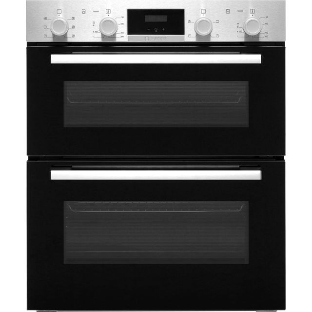 Bosch Serie 2 NBS113BR0B Built Under Double Oven - Stainless Steel - A/B Rated - NBS113BR0B_SS - 1