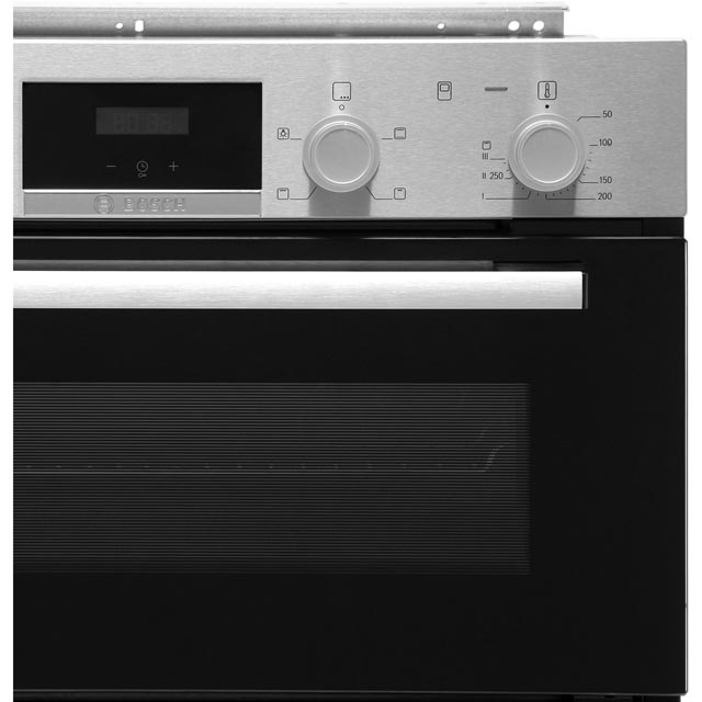 Bosch Serie 2 NBS113BR0B Built Under Double Oven - Stainless Steel - NBS113BR0B_SS - 4