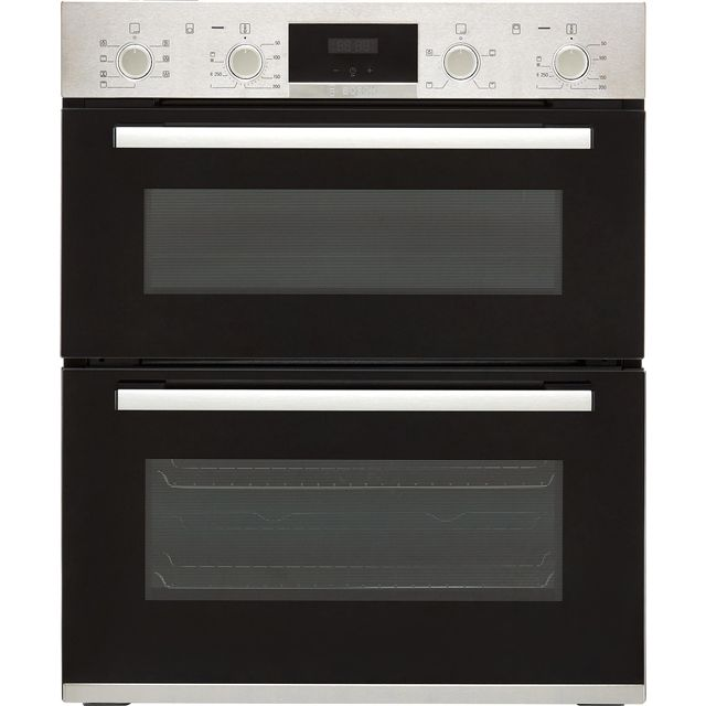 Bosch Serie 4 NBS533BS0B Built Under Electric Double Oven - Stainless Steel - NBS533BS0B_SS - 1