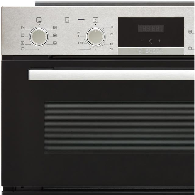 Bosch Serie 4 NBS533BS0B Built Under Double Oven - Stainless Steel - NBS533BS0B_SS - 4
