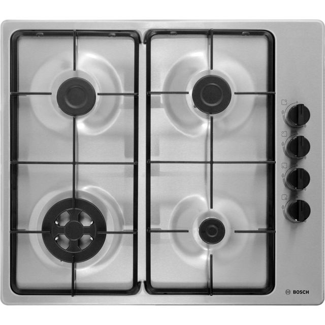 Bosch Serie 2 PBH6B5B60 Built In Gas Hob - Brushed Steel - PBH6B5B60_BS - 1