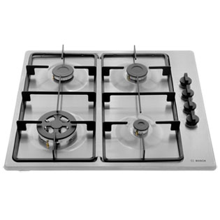 Bosch Serie 2 PBH6B5B60 Built In Gas Hob - Brushed Steel - PBH6B5B60_BS - 5
