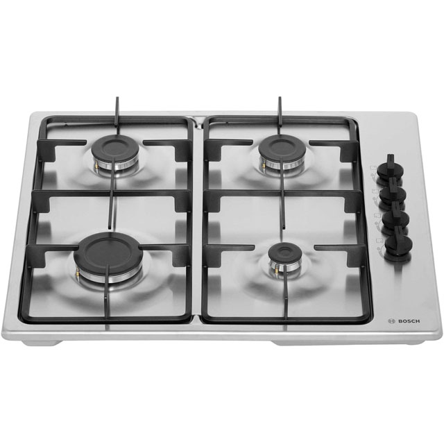 Bosch Serie 2 PBP6B5B60 Built In Gas Hob - Stainless Steel - PBP6B5B60_BS - 5