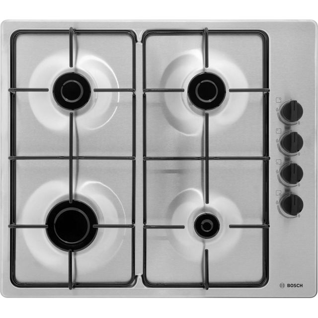 Bosch Serie 2 PBP6B5B80 Built In Gas Hob - Stainless Steel - PBP6B5B80_BS - 1