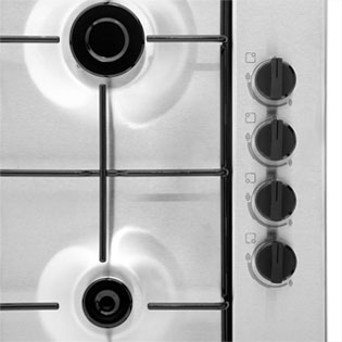 Bosch Serie 2 PBP6B5B80 Built In Gas Hob - Stainless Steel - PBP6B5B80_BS - 5