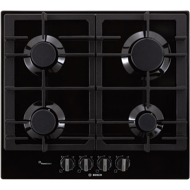 Bosch Serie 6 PCP6A6B90 Built In Gas Hob - Black - PCP6A6B90_BK - 1