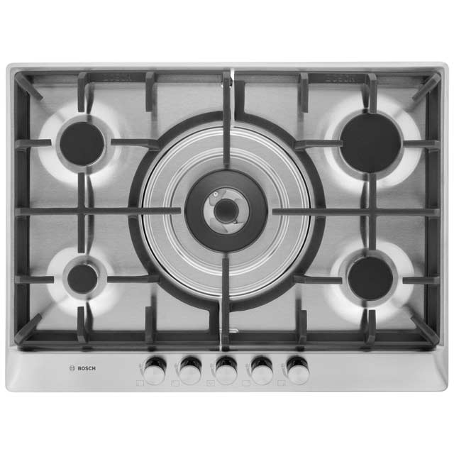 Bosch Serie 4 PCQ715B90E 70cm Gas Hob - Brushed Steel
