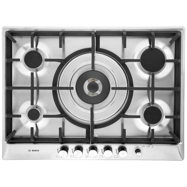 Bosch Exxcel PCR715M90E 70cm Gas Hob - Brushed Steel