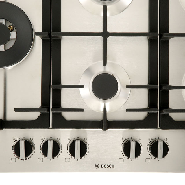 Bosch Serie 6 PCS7A5B90 Built In Gas Hob - Stainless Steel - PCS7A5B90_SS - 3