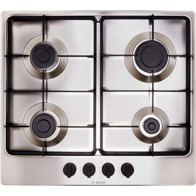 Bosch Serie 4 PGP6B5B60 58cm Gas Hob - Stainless Steel - PGP6B5B60_SS - 1