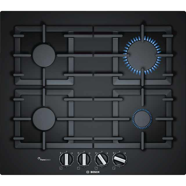 Bosch Serie 6 PPP6A6B90 Built In Gas Hob - Black - PPP6A6B90_BK - 1