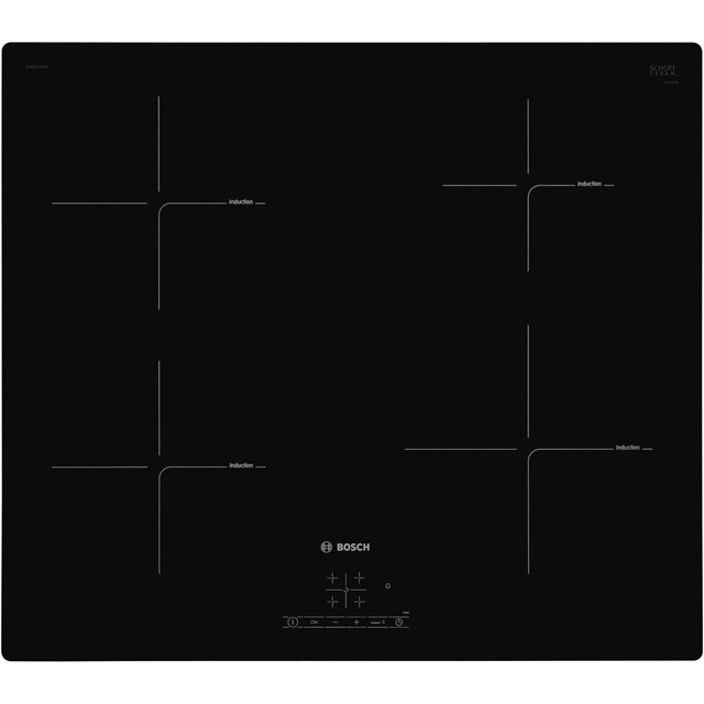 Bosch Serie 4 PUE611BB1E Built In Induction Hob - Black - PUE611BB1E_BK - 1