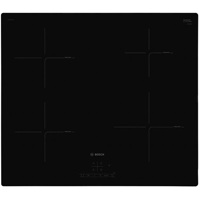 Bosch Serie 4 PUE611BF1B 59cm Induction Hob - Black - PUE611BF1B_BK - 1