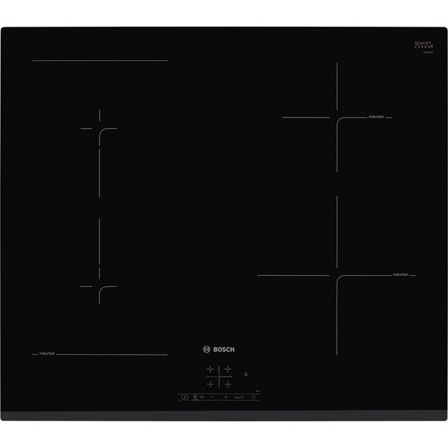 Bosch Serie 4 PWP631BF1B 59cm Induction Hob - Black - PWP631BF1B_BK - 1