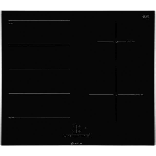 Bosch Serie 4 PXE675BB1E 61cm Induction Hob - Black - PXE675BB1E_BK - 1